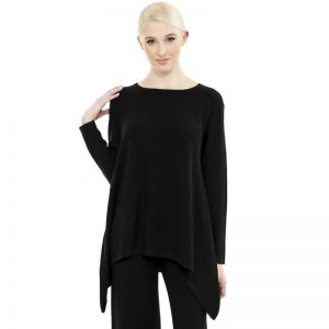 JANE CASHMERE ASYMETTRIC SWEATER - NOIR